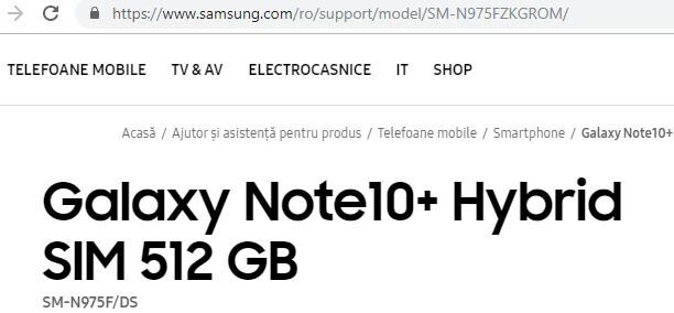 Galaxy Note 10 Plus Samsung resmi web sitesinde paylaşıldı! - ShiftDelete.Net