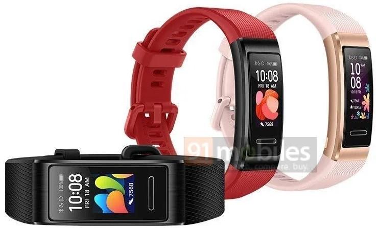 Huawei Band 4 Pro tasarımı ve renk seçenekleri