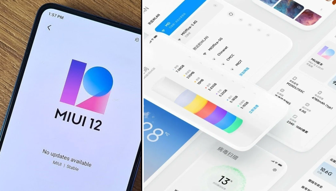 MIUI 12 güncellemesi alacak Xiaomi telefonlar
