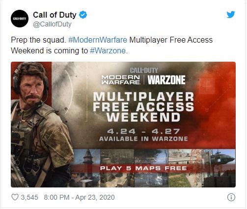 Call of Duty: Modern Warfare ücretsiz oluyor!