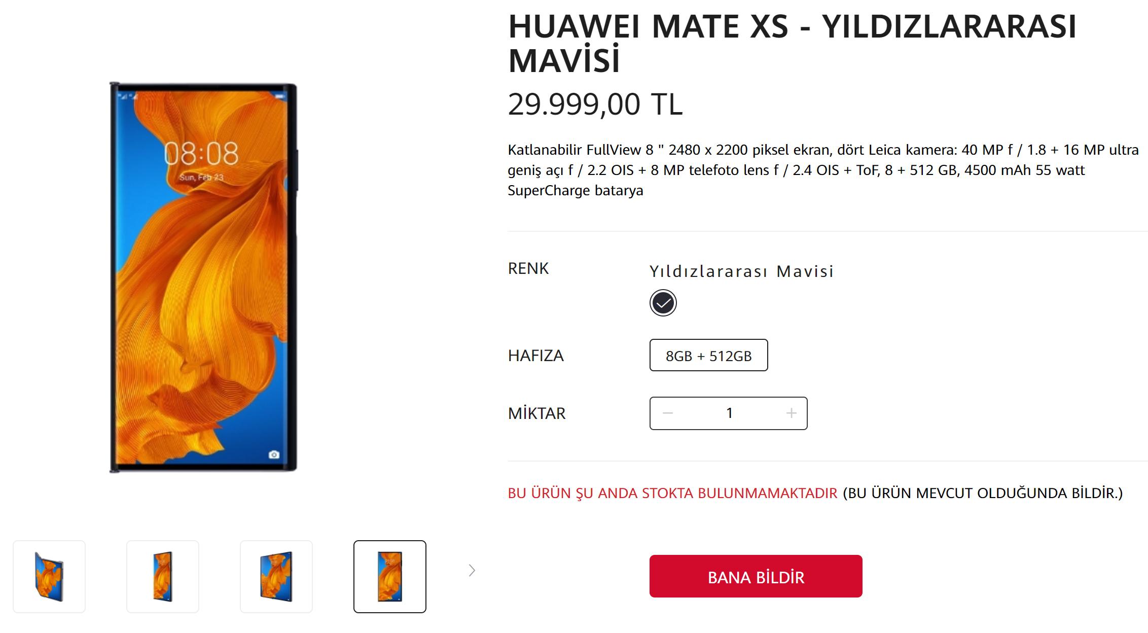 Huawei Mate Xs stokları tükendi!
