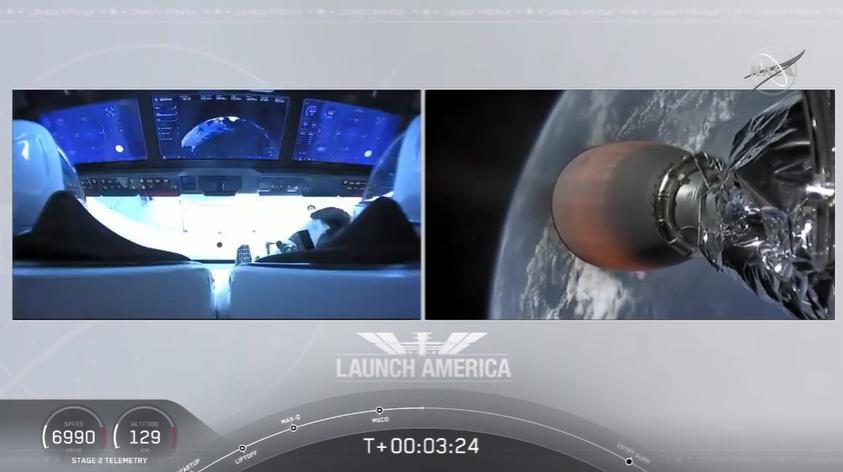 ilk astronotlu falcon 9 uçuşu