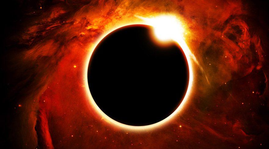 ateş çemberi güneş tutulması halkalı güneş tutulması