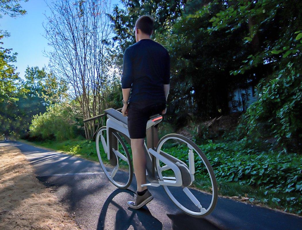Fütüristik elektrikli bisiklet Tesla Model B-00