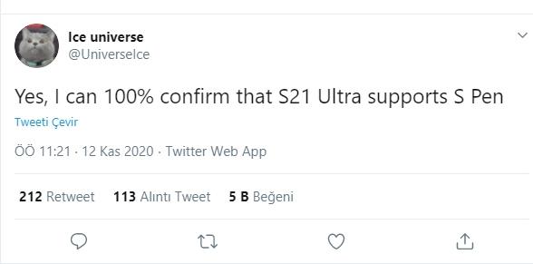 s21 ultra, s21 ultra s pen, s pen desteği, s21 ultra özellikleri