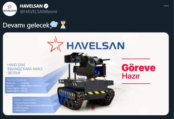 HAVELSAN yerli insansız kara aracı