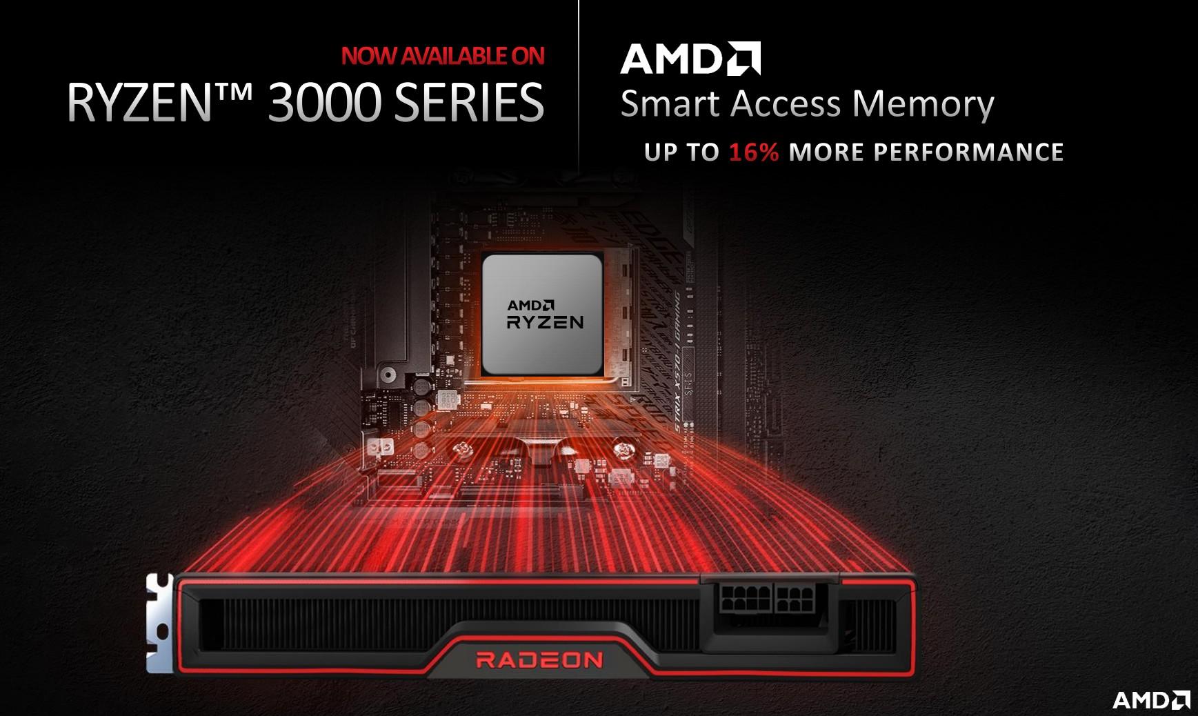 AMD, Ryzen 3000 işlemcilerde Smart Access Memory teknolojisini kullanacak
