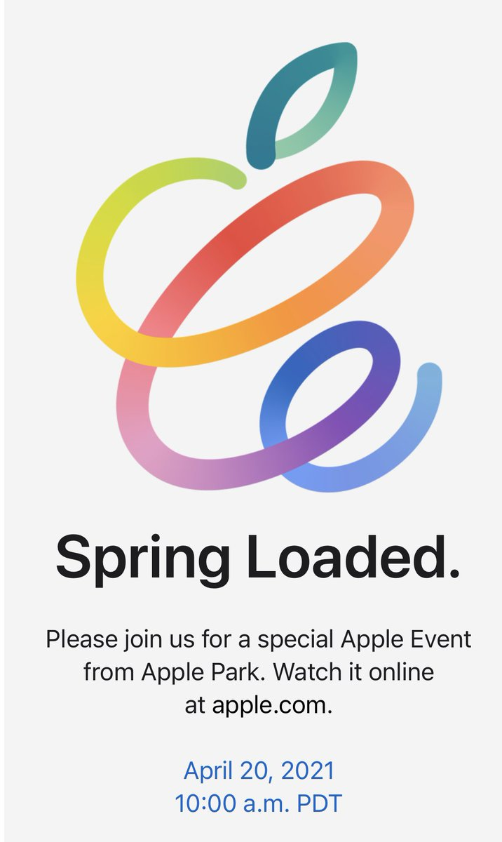 Apple Event will be held on April 20