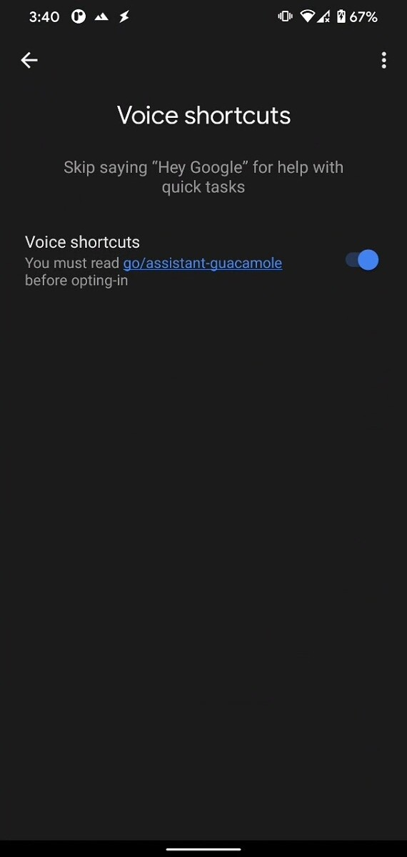 google assistant voice shortcuts